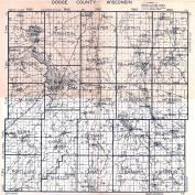 Dodge County Map, Dodge County 192x
